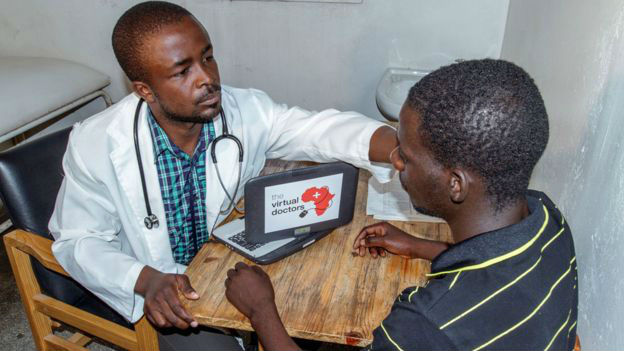 Африканский пациент у врача