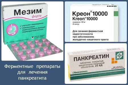 Мезим, Креон, Панкреатин