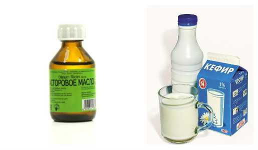 Касторовое масло и кефир
