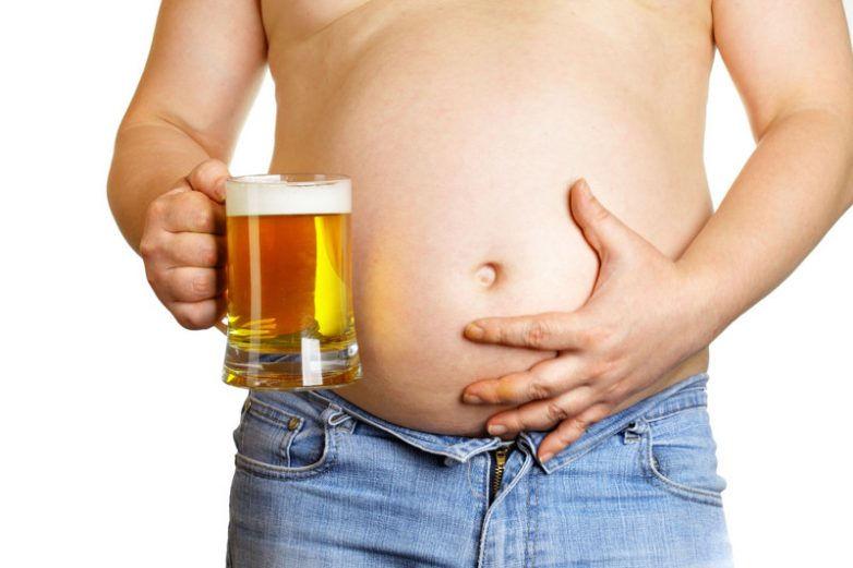 Пивной живот и пиво