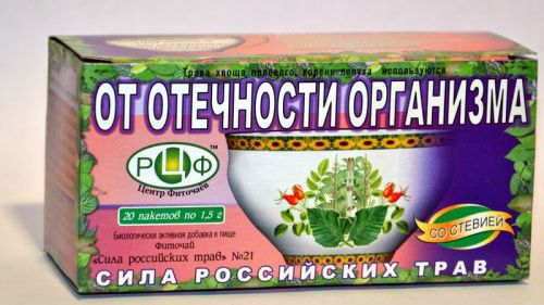 Чай от отечности организма