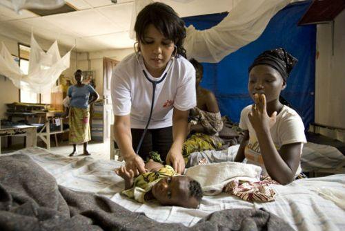 Больные дети в странах Африки