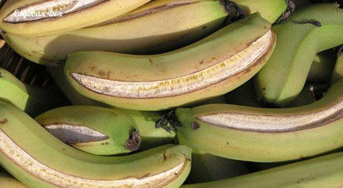 Бананы с лопнувшей кожурой