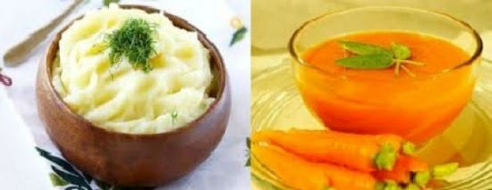 Овощное пюре и суфле