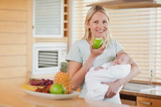 Питание мамы при лактации
