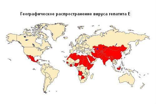 Распространение вируса гепатита Е