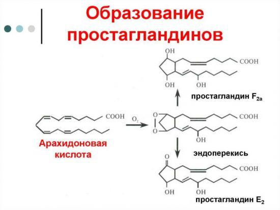 Синтез простагландинов