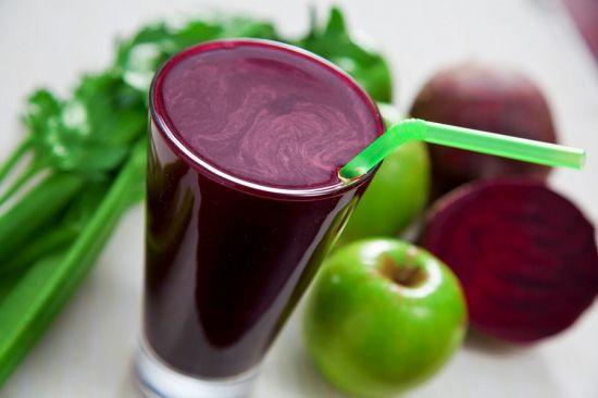Сок из яблока и свеклы