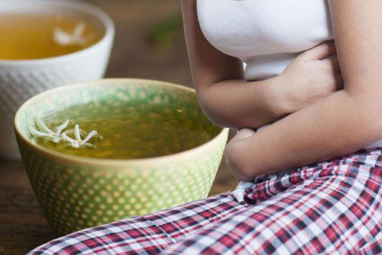 Зеленый чай, боль в животе